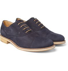 Tods No_CodeContrast-Panel Suede Oxford Shoes