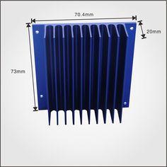 Anodized Square Shape aluminum extrusion heatsink for Industry profile heatsink - ALUMINUM EXTRUSION HEAT SINK - Dongguan Ruiquan Hardware Electronics Co., Ltd. #aluminumprofileheatsink