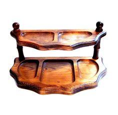 Vintage Wood Desk Organizer