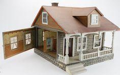 Schoenhut Bungalow - Antique Doll house  Rick Maccione-Dollhouse Builder www.dollhousemansions.com