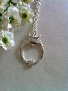Sterling Silver Owl Necklace Everyday Necklace by SwamiJewelry, $38.00