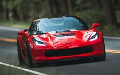 Download wallpapers Chevrolet Corvette, 2018, Callaway, Aerowagen, red sports coupe, tuning, red Corvette, Chevrolet