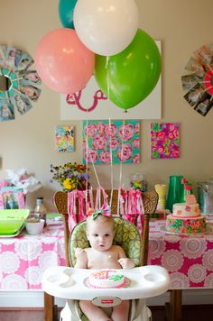 A Lilly Pulitzer Themed First Birthday Party @lillypulitzer