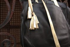 Black leather bag women bags black leather tote bag by Percibal
