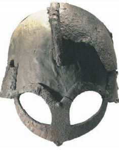 The only Viking helmet found in Norway, Gjermundbu helmet (970 AD), found in 1943 in a burial mound near Gjermundbu, Ringerike, Buskerud County, Norway.