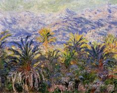 Claude Monet Palm Trees At Bordighera oil painting reproductions for sale