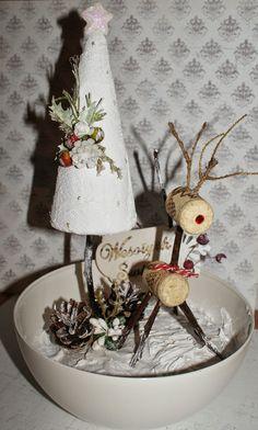 Ręcznie robione-pasje Katki: Stroik świąteczny