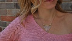 Pretty in pink! Fringe necklace and spring outfit looks!