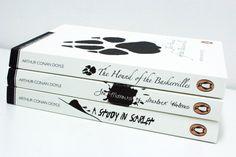Penguin Sherlock Holmes Book Covers by Aidan Croucher, via Behance