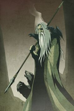 I'd hang a print of this in my office: Odin by ~Bubaben on deviantART