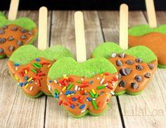 Decorated Caramel Apple Cookies