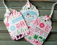 Christmas Tags, Holiday Tags, gift tags, thank you tags, paper tags, holiday favor tags, Christmas favor tags, set of  8