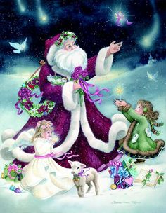 christmas animal clipart free | , Free Santa Graphic with Angel and Child, Free Christmas Graphics ...