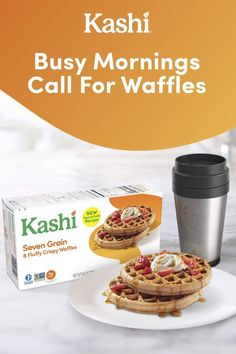Busy mornings call for Kashi waffles at breakfast. These waffles are easy, delicious and are so crispy and fluffy! Try one (or many) of these waffles today. Fun Baking Recipes, Easy Soup Recipes, Low Carb Recipes, Dessert Recipes, Cooking Recipes, Waffle Recipes, Tasty, Yummy Food, Good Food