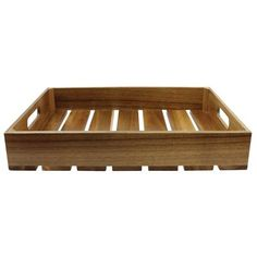 Winston Porter This Gastro Serving & Display Wood Crate is great for serving breakfast in bed. This wood crate allows you to display, store, and label. Fabric Storage Bins, Fabric Bins, Storage Baskets, Wooden Crates Gifts, Wood Crates, Plastic Moulding, Beverage Tub, Wood Tray, Breakfast In Bed