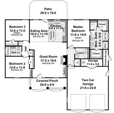 STACY, this one would be easy to work with.     home plans no dining room | Traditional Style House Plans - 1500 Square Foot Home, 1 Story, 3 ...