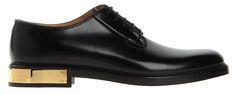 SPLURGE: Marc Jacobs Black Leather Gold Plate Shoes
