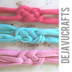 Coral/teal/pink Turban Headbands baby by dejavucrafts