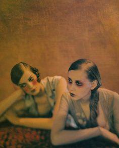 Colette Pechekhonova and Natasa Livak by François Halard for Elle France