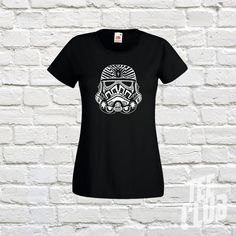 storm trooper tee star wars tribal tattoo girls graphic by TeeClub