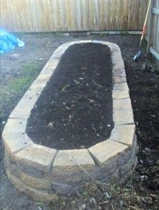 """A more attractive raised bed made from pavers.  (The site does not have DIY instructions for this bed but has lots of great """"square foot"""" gardening help.)"""