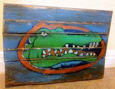 Gator Bait- University of Florida Faux Vintage Wooden Sign. $42.00, via Etsy.