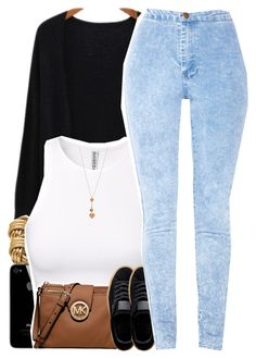 """""""No. 593"""" by dessboo ❤ liked on Polyvore featuring H&M, MICHAEL Michael Kors, Forever 21 and Bee Charming"""