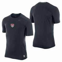 U.S. Soccer Nike Men's SS Pro Core - Obsidian - Click to enlarge