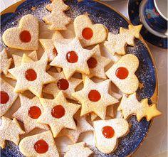 Lekváros linzerkarika - www.kiskegyed.hu Evo, Gingerbread Cookies, Waffles, Barbie, Breakfast, Recipes, Minden, Instagram, Cooking