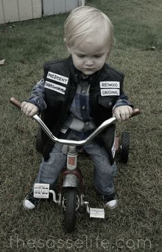 Sons of Anarchy Baby Jax!!!! Adorable! Jax can be this in a couple years when he can ride a trike!