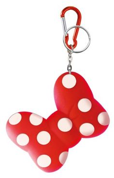 Minnie Mouse Polka Dots Bow Disney Soft Touch Key Chain and Coin Holder - 2-in-1 Set LA Auto Gear