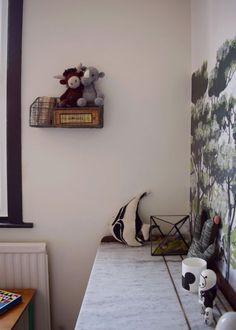 Scandinavian Children's bedroom decor. Painting in School House White. By Design Soda.