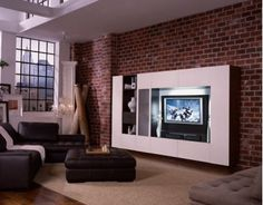 Unique way for a tv console/feature wall.
