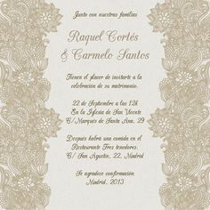 invitaciones de boda elegantes flores beige