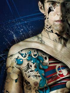 Michael Phelps, por Alberto Seveso. Una máquina