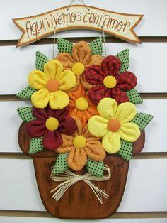 Enfeite para porta de banheiro de vaso de flor G Cores e escrita da plaquinha podem ser alteradas Consulte opções de pagamento R$ 45,00