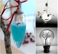 DIY. Decoración con bombillas recicladas: mundos imaginarios