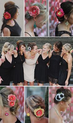 What a fun idea to have a little black dress bridal shower theme where everyone wears black EXCEPT the bride to be! Plus My black and white chalkboard decor could work with it!