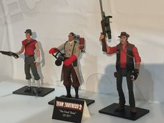 Neca is finally releasing their: Scout Medic & Sniper figures - Display shot #games #teamfortress2 #steam #tf2 #SteamNewRelease #gaming #Valve