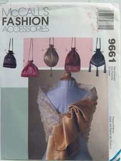 McCall's 9661 Scarves and Drawstring Purse