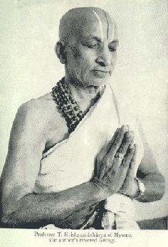 "Krishnamacharya (November 18, 1888 – February 28, 1989) was an Indian yoga teacher, ayurvedic healer and scholar. Often referred to as ""the father of modern yoga,"" Krishnamacharya is widely regarded as one of the most influential yoga teachers of the 20th century and is credited with the revival of hatha yoga. His students included BKS Iyengar, Sri Patabhi Jois, Indra Devi and Desikachar."