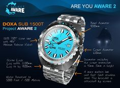 CLICK TO ORDER -    THE DOXA SUB1200T Project AWARE edition II