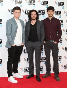 Pin for Later: That's a Wrap! See All the Stars Who Ditched Hollywood For the London Film Festival Taron Egerton, Kit Harington, and Colin Morgan Taron, Kit, and Colin had us swooning at a photocall for their joint project Testament of Youth.
