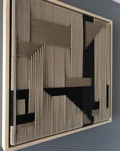 Rope Decor, Weaving Wall Hanging, Elements Of Art, Textile Art, Diy Art, Home Art, Sculpture Art, Fiber Art, Wall Art Decor