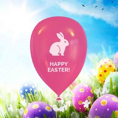 "Wish ""some-bunny"" special a Happy #Easter with a custom eBalloon!"
