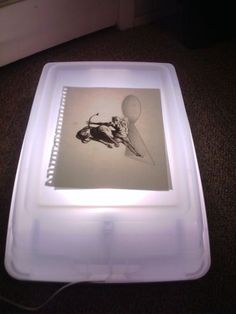If you need a quick light box, this might do the trick!