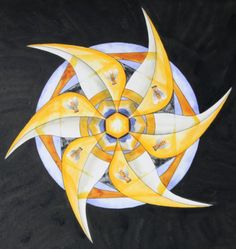 """""""Prayer for the bees"""" mandala. To learn how: http://www.creativeenergycare.com/mandalas-for-meditation-prayer-and-transformation/"""