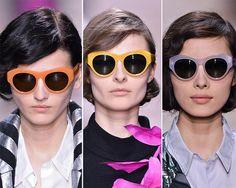 Fall/ Winter 2014-2015 Eyewear Trends: Colorful Sunglasses #sunglasses #eyewear #fashiontrends