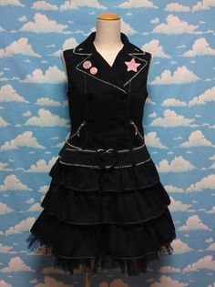 Pop 'n Rock JSK in Black from Angelic Pretty - Lolita Desu