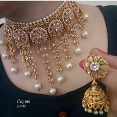 Bridal Jewelry Don't Just Wear It For The Wedding Indian Jewelry Earrings, Indian Jewelry Sets, Jewelry Design Earrings, Indian Wedding Jewelry, Gold Jewellery Design, Wedding Jewelry Sets, Jewelry Accessories, Silver Jewelry, Silver Bracelets